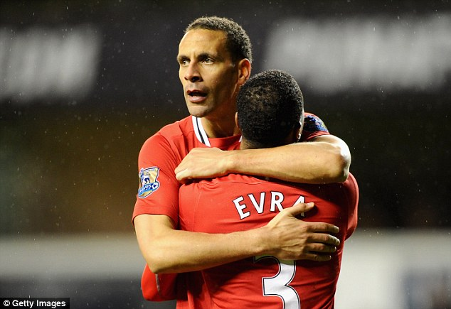 Old school: Ageing defenders Rio Ferdinand (left) and Patrice Evra could be the next players to leave United