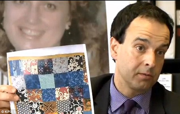 Looking for help: Deputy District Attorney Ted Kajani said the quilt was withheld from the public because authorities wanted to have evidence only the real killer could identify