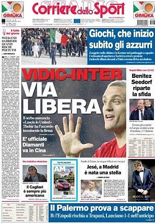 Italian job: Outgoing Man United skipper Nemanja Vidic has been linked with Inter