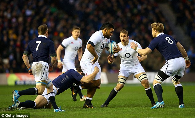 Staying up: Billy Vunipola of England looks to break with the ball in the first-half