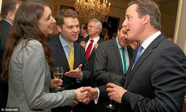 'Difficult time': Aidan Burley and his fiancee Jodie Jones with the Prime Minister at No 10