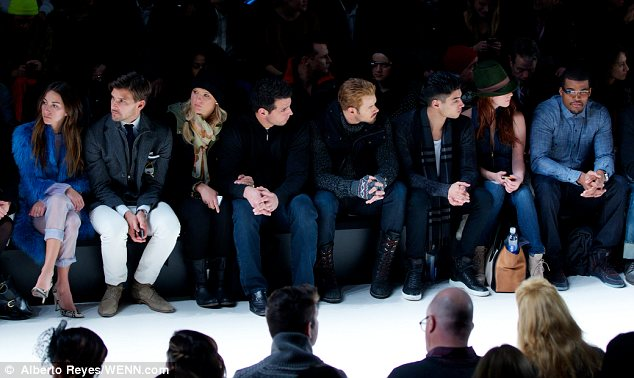 A good-looking front row: Only stylish celebrities and big names in fashion got to claim the best seats in the house