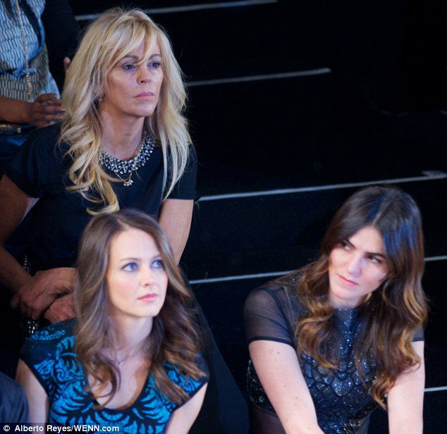 Relegated: While Ali Lohan had a prime front row spot at Nicole Miller's show at NYFW, her mother Dina didn't make the cut
