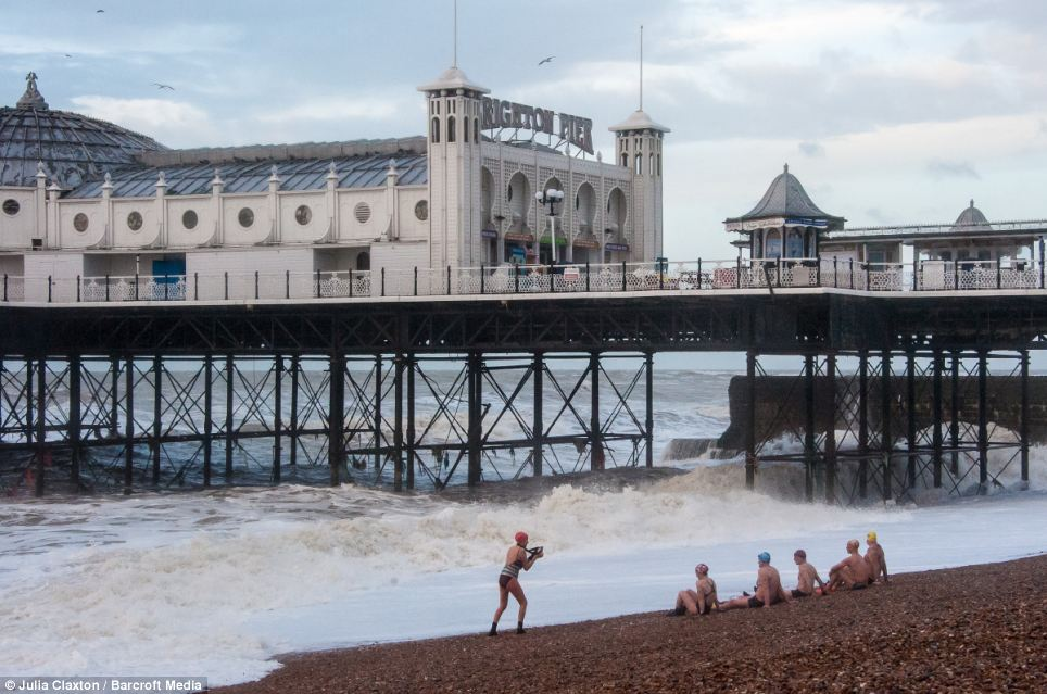 Swimming Club members are unable to swim as storm hit East Sussex. The latest storms are expected to be at least as severe as those which caused widespread destruction across southern England last week leaving swathes of the country under water