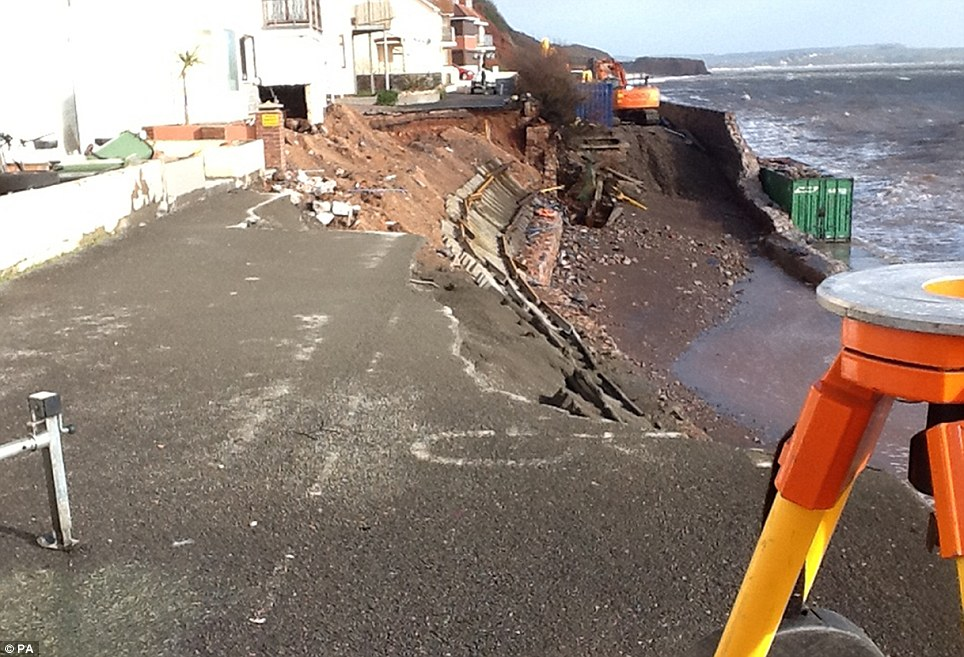 Engineering work on the damaged trainline at Dawlish is still in its early stages