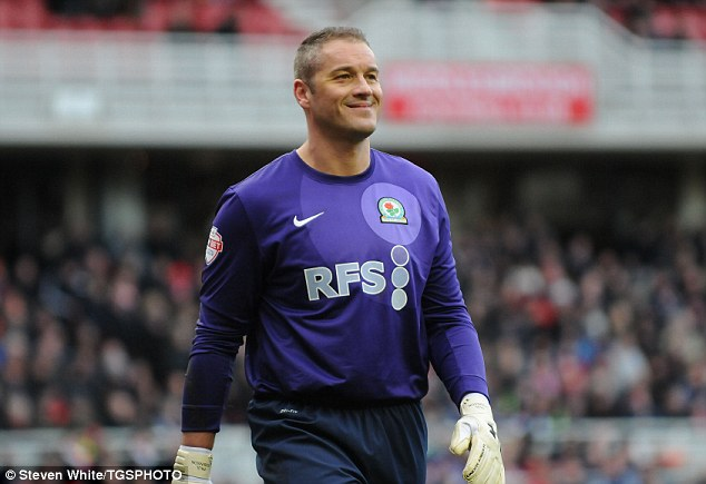 Safe hands: Blackburn keeper Paul Robinson denied Middlesbrough a goal with an excellent performance