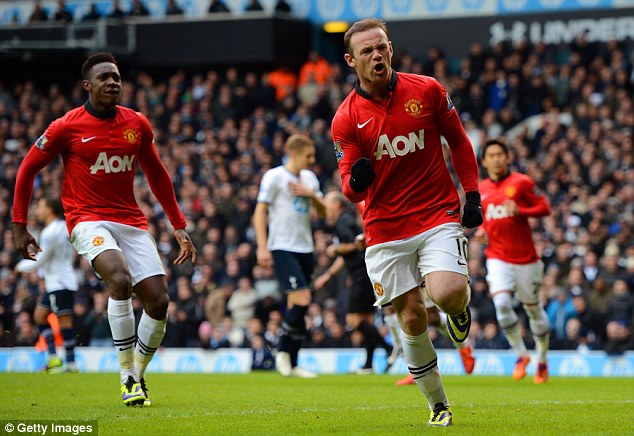 On course: Rooney insists he wants to break Sir Bobby Charlton's goalscoring record at United