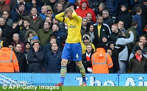 Ouch: Per Mertesacker reflects on Arsenal's defeat at Liverpool