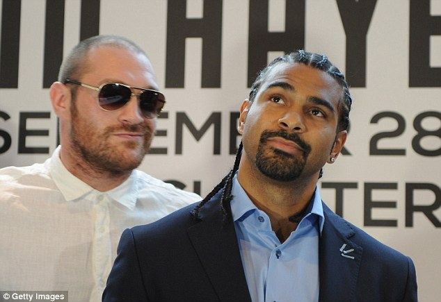 Withdrawal symptoms: Tyson Fury again vented his frustration of not having a chance to fight David Haye (R)