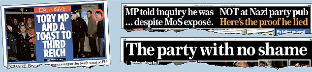 Damning: How the Mail on Sunday covered the scandal