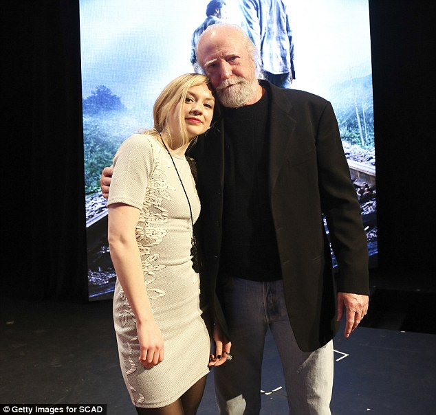 Reunited! Emily Kinney was joined by Scott Wilson who rose from the dead after his character's passing at the aTVfest in Atlanta, Georgia on Saturday