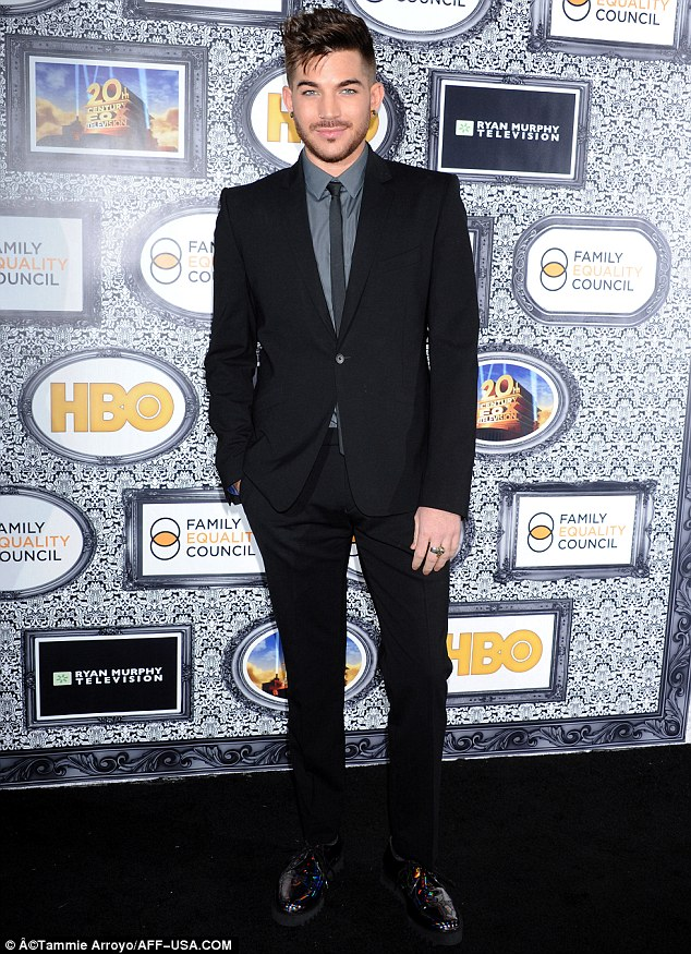 Entertainer: Singer Adam Lambert was one of the performers at the bash