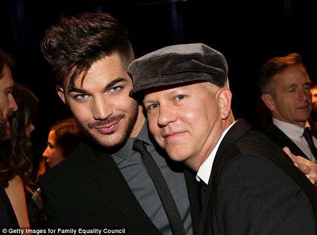 Mingling: Adam Lambert caught up with writer/producer Ryan Murphy while at the ceremony