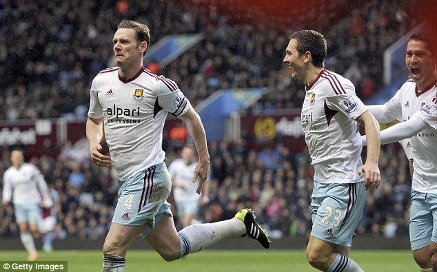 Relegation dogfight: Without Andy Carroll (suspended), Nolan took up the duty in front of goal