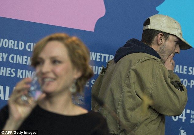 Amused? Uma was seen smiling after Shia left his seat