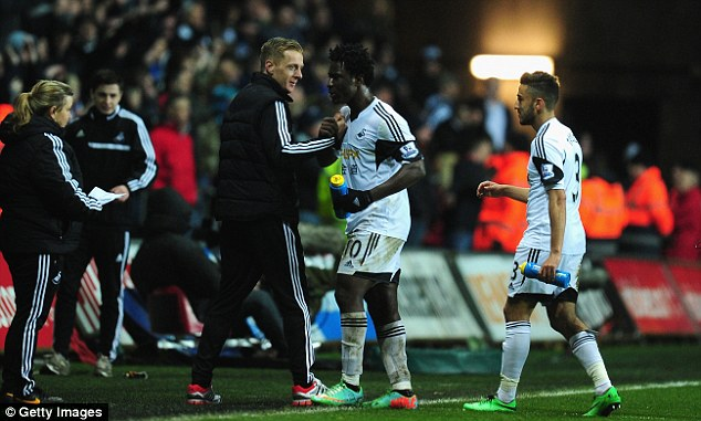 Debut: Garry Monk won in his first match in charge at the Liberty Stadium