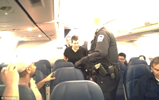Final destination: The woman never mad it to Salt Lake City with her fellow travelers; instead she was removed from the flight by police and taken to a medical center