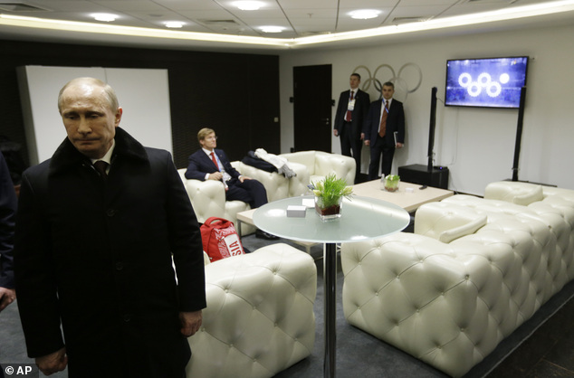Vladimir Putin may have missed the biggest glitch of the Olympics opening ceremony, because he was facing away from a monitor which showed it