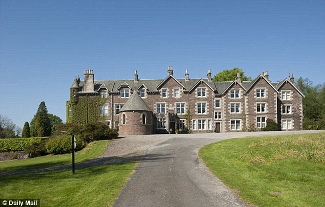 Luxury: An exterior view of the Cromlix House Hotel which the Wimbledon Champion bought for £1.8million a year ago