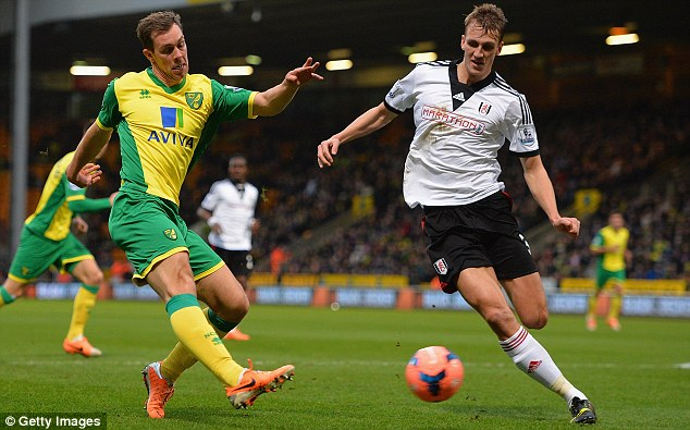 Form: Burn has impressed for Fulham since returning from his loan spell at Birmingham