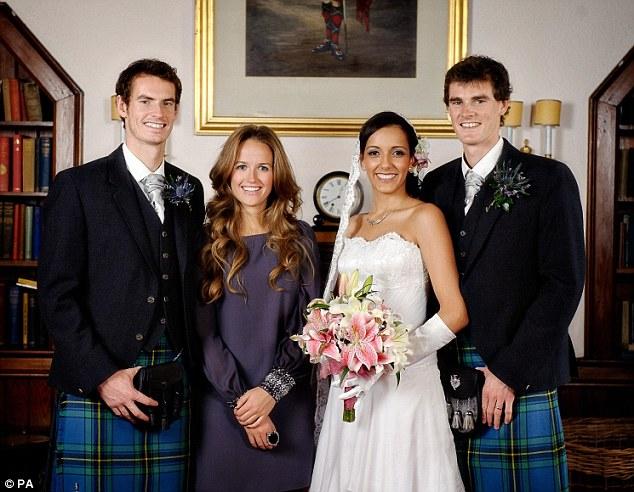 Family: The US Open and Olympic champion bought the hotel minutes from his hometown of Dunblane, Stirlingshire, last February, three years after his brother Jamie got married there
