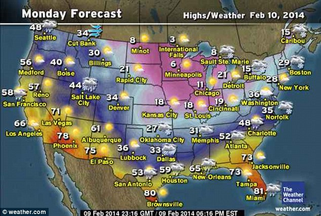 Monday forecast: Meteorologists say snow, sleet and freezing rain will develop in parts of Kansas, Oklahoma and possibly north Texas on Monday
