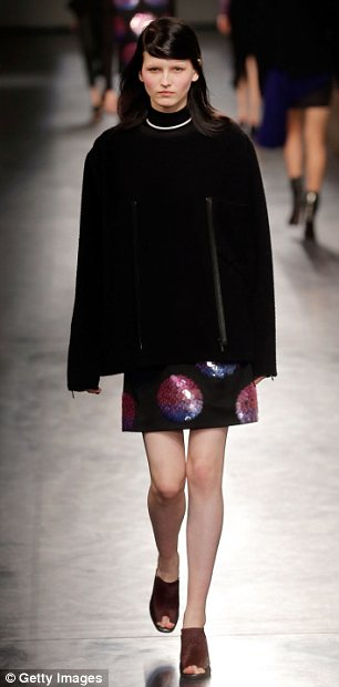 Shine bright: The label also introduced a sequined motif that seemed more inspired by Japan than Belgium