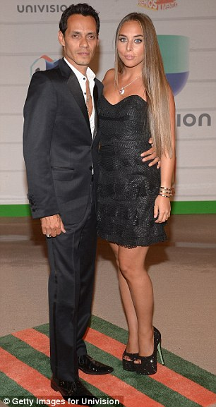 Break up: Chloe and Marc also looked happy together at the Juventud 2013 - known as the Spanish People's Choice Awards - in July 2013