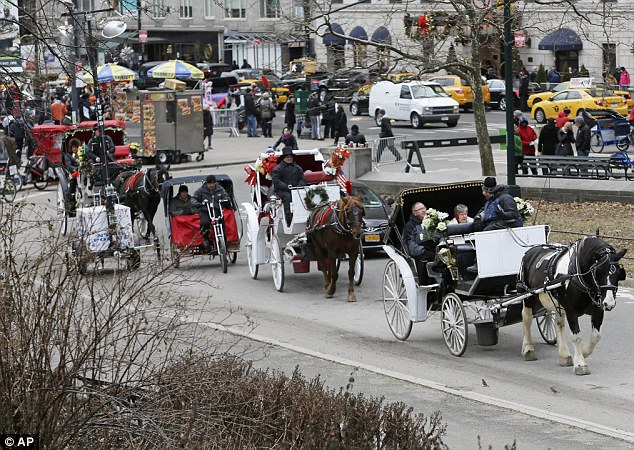 New York City Mayor Bill de Blasio seeks to shut down the city's horse-drawn-carriage industry, believing it is inhumane
