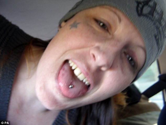Selfie: Dennehy took this photo of herself shortly before going on a violent rampage in Hereford
