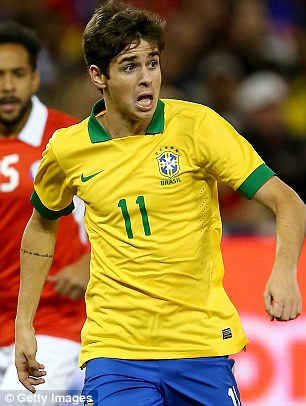 Confident: Oscar believes Brazil are rightful favourites for the tournament