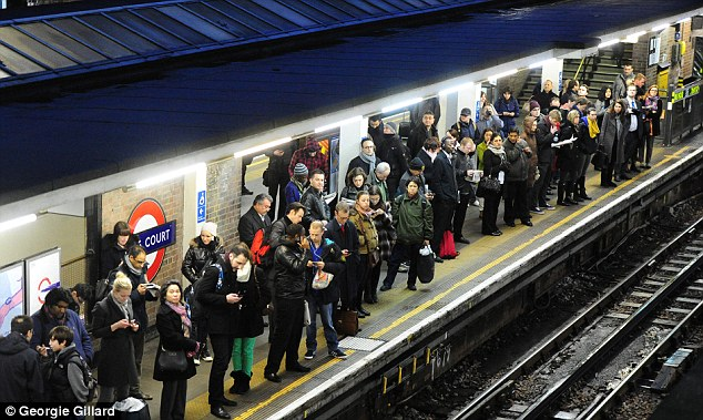 Strike: London Underground workers staged a 48-hour walkout last week, and another was planned this week
