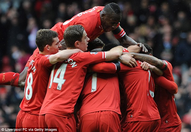 Confident: Liverpool shocked Arsenal by beating the Gunners 5-1 on Saturday