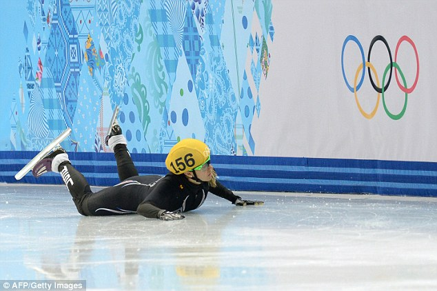Unavoidable: Crashes are common in speed skating