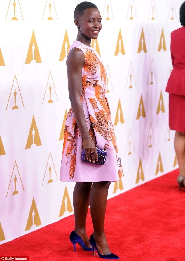 Already a pro: Lupita is not only making waves for her acting but also for her winning red carpet style