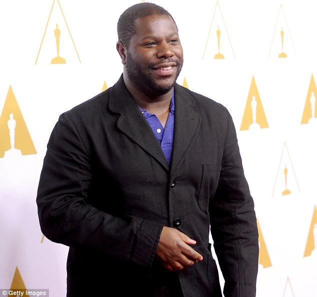 Happy to be here: Though Steve McQueen is hoping to win Best Director for 12 Years A Slave, he seems delighted just to be nominated