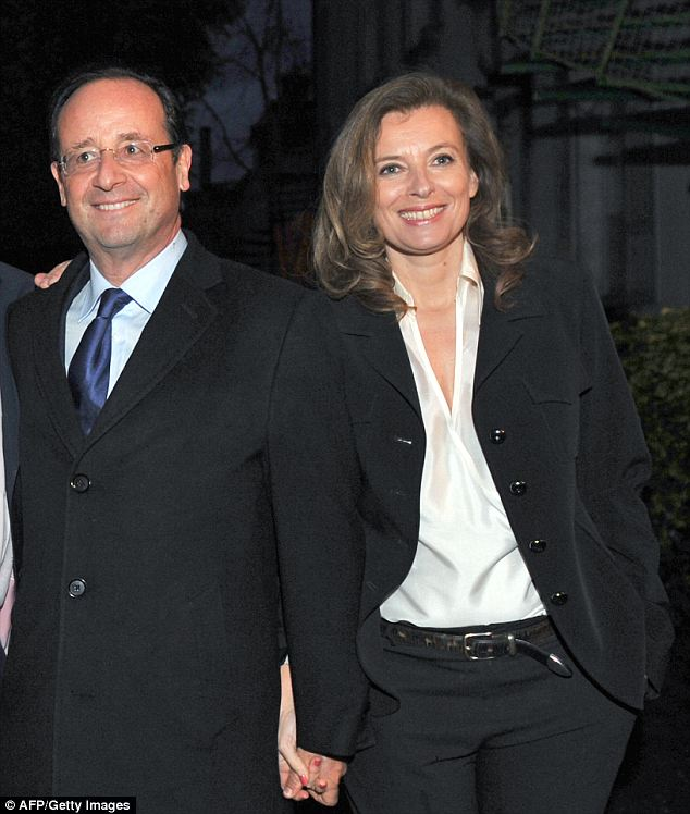 Split: Hollande's visit comes on the heels of his break up from his longtime partner Valerie Trierweiler after it was discovered that he was having an affair with a younger actress