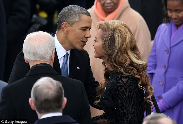 Go-to singer: President Obama is an open fan of Beyonce as well as her husband Jay Z and they have served as fundraisers for his presidential campaigns