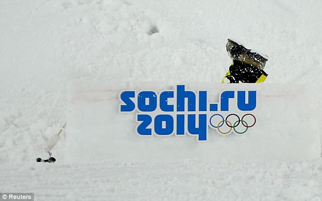 Bye bye! Kazakhstan's Dmitriy Barmashov crashes during the men's freestyle skiing moguls qualification