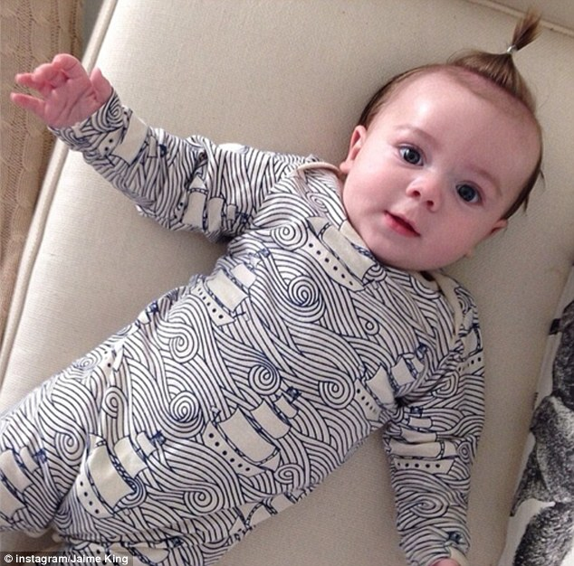 Cutie pie: Jaime also posted this adorable picture of her son James later in the day