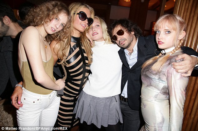 High spirits: Paris Hilton was in the thick of the action as the party wore on into the early hours
