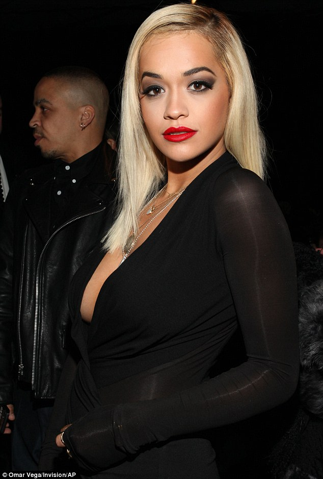 Hot Right Now: Self-confessed DKNY fan, Rita Ora, smouldered at the event in New York