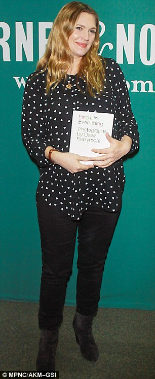 Footloose: She made it look easy as she posed on one leg while revelling in the book signing atmosphere