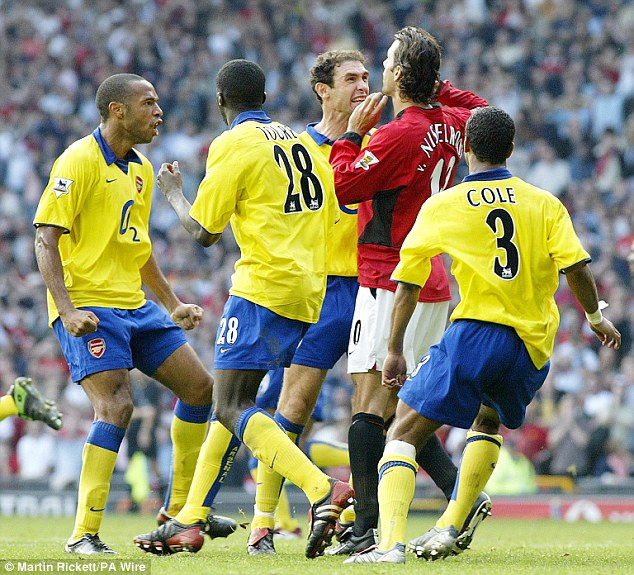 Everything to play for: Matches between Arsenal and Manchester United have always had a bearing on the Premier League title race