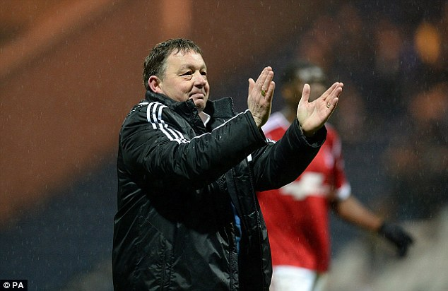 Hectic: Manager Billy Davies has had the task of guiding his team through five matches in the space of 13 days, but they remained unbeaten