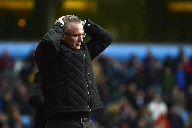 Not impressed: Paul Lambert looks infuriated during Villa's 2-0 home defeat to West Ham at the weekend