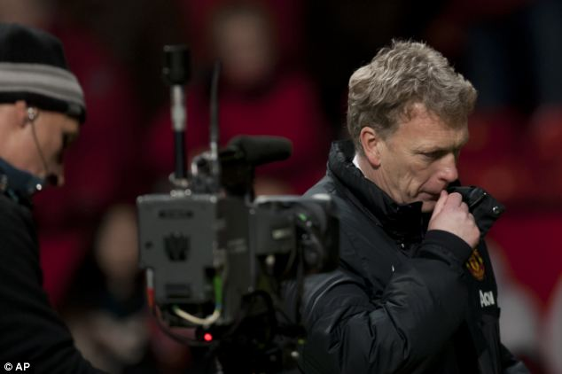 A new low: David Moyes looks close to tears after United were held at home by Fulham