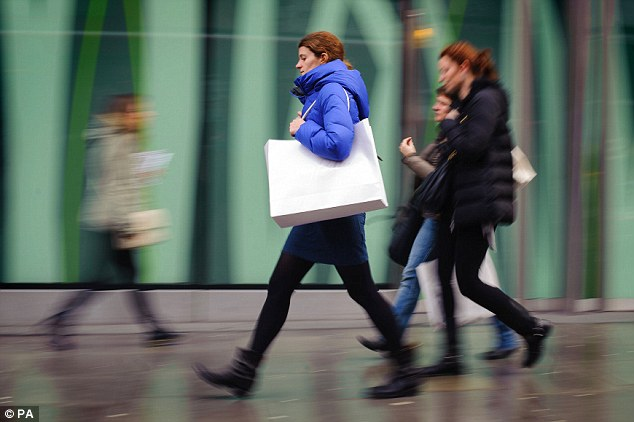 Retail rise: High street stores groups got a boost after the BRC said retail sales in January saw their the best performance since March 2010