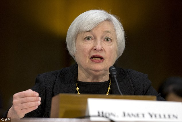 Yellen delivers: Janet Yellen¿s first Congressional testimony as Federal Reserve boss was seen as 'cautiously optimistic'