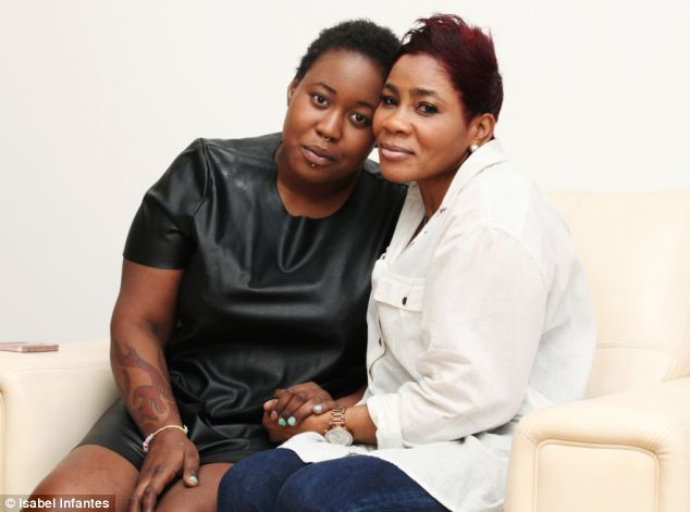Michelle Campbell (right) has accused her employer of insensitivity after she says she felt under pressure to return to work while caring for her terminally ill daughter, Nadejah Williams (left)